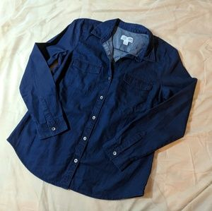 NWT Old Navy Denim Chambray Button-Up Shirt